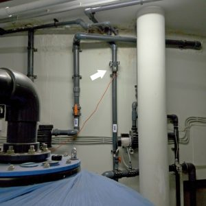 The WS water conditioner is installed before the water treatment system of the children's pool.