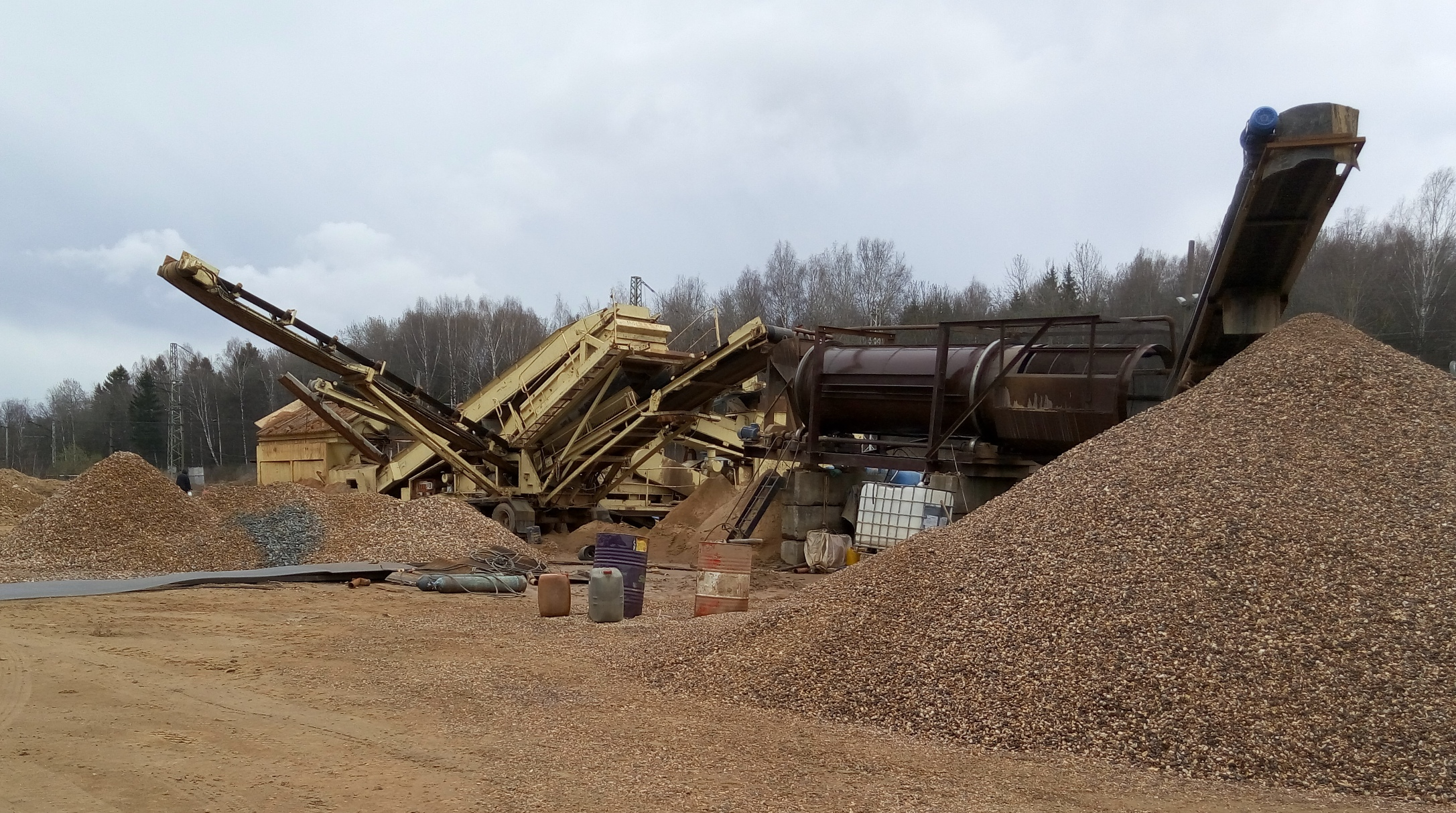 line for the washing of crushed stone and gravel