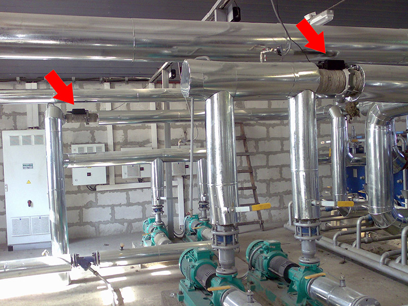 The previously installed ferrite water conditioner Hydroflow C-160 and C-120.