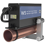 ferrite water conditioner WS48 on the pipe