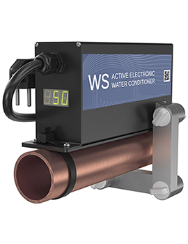 ferrite water conditioner WS-50 on the pipe