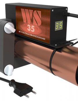 ferrite water conditioner WS-35 on the pipe